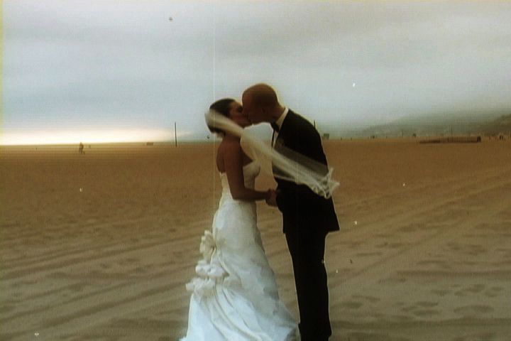 a clip from Max & Victoria's Santa Monica wedding