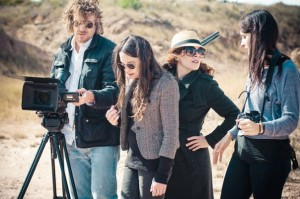 Directing on the Set of The Texas Huntress